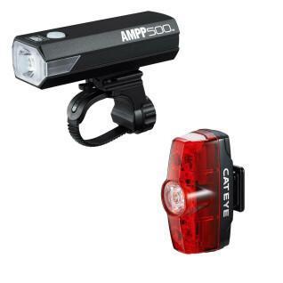 Cateye Ampp 500/Rapid Mini luci anteriori e posteriori