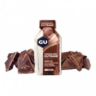 Lotto di 24 gel Gu Energy Energy intenso al cioccolato